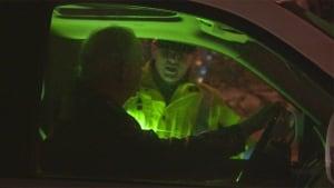 Police speak to driver at roadblock