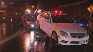Car towed at drunk driving roadblock