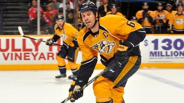 As a veteran, Shea Weber has been among those players allowed to play without a visor.