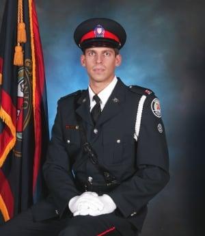 Const. John Zivcic, seen in cadet-in-training graduation photo