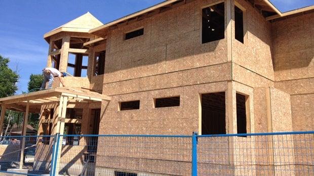 Home under construction in Saskatoon's Adelaide Park.