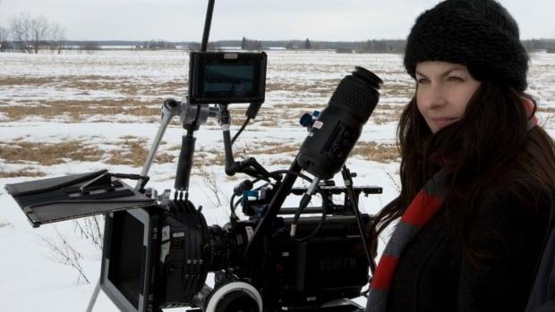 Filmmaker Danishka Esterhazy on the set.