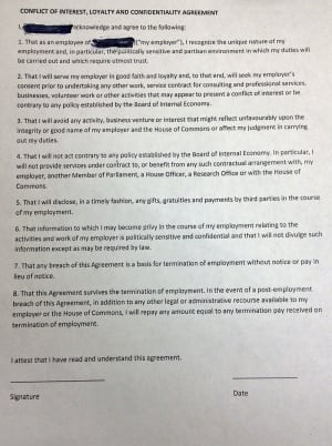 BOIE confidentiality agreement