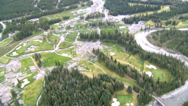 Floodwaters brought widespread damage to the Kananaskis Country Golf Course last June.