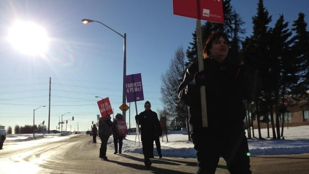 Personal support workers in Thunder Bay began striking last week as part of a province-wide effort to improve wages and benefits.