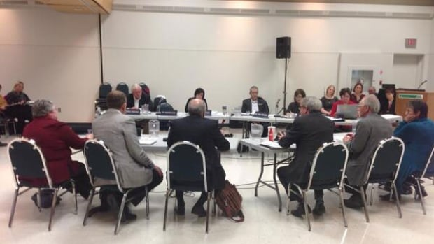 The board of the Regina Qu'Appelle Health Region met Wednesday night to discuss consolidation of pediatric services to the General Hospital.