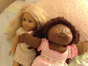 Abby Schroeder and Ana Márquez-Greene dolls