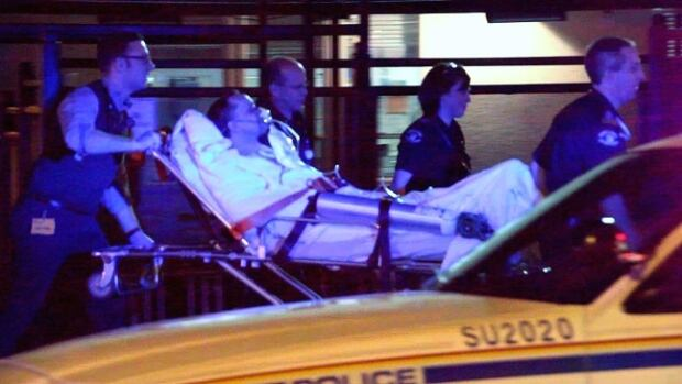 Ambulance attendants rushed the victim of a stabbing in Surrey, B.C., to hospital Wednesday evening. The man remains in hospital.