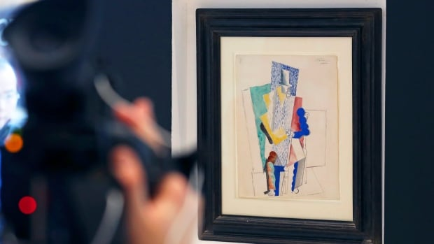 Sotheby's estimated Pablo Picasso's 1914 cubist drawing L'homme au Gibus (Man with Opera Hat) to be worth about $1 million US.
