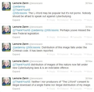Lenore Zann tweets