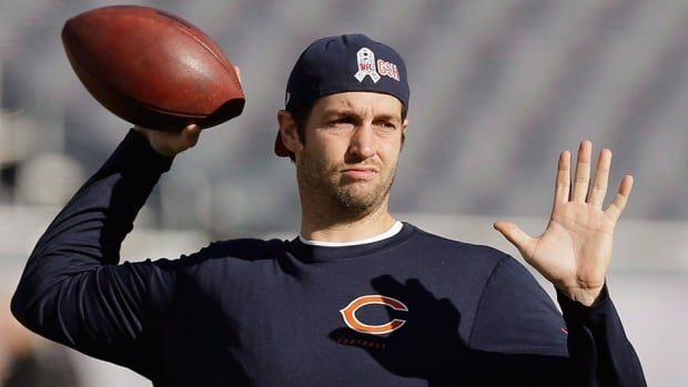 Bears head coach Marc Trestman proclaimed quarterback Jay Cutler, pictured here, fit to start Sunday against Cleveland after going through a full practice on Thursday. He missed four games with a high ankle sprain.