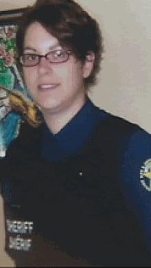 Sheriff's deputy Natalie Doucet says she was let go after a van crash in April 2012