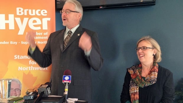 Bruce Hyer, who was elected as an NDP MP for Thunder Bay-Superior North but quit the party over its stance on the long-gun registry, announced Friday that he has joined the Green Party.