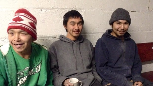 Lava Partridge, Simiuni Nauya and his brother Lucassie Nauya are part of a growing population of homeless Inuit in Montreal.