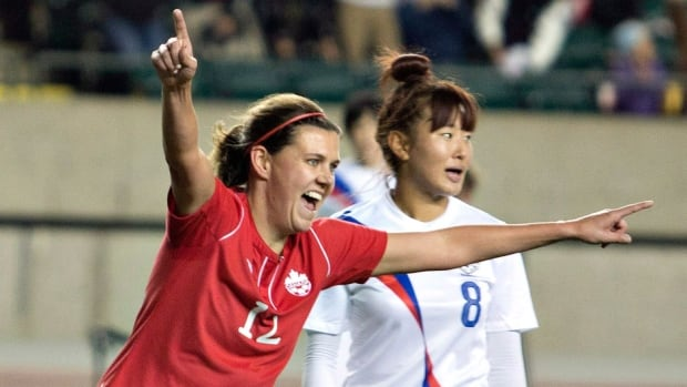 Forward Christine Sinclair on Friday was named the Canadian women's soccer player of the year for the 10th straight year and 11th time overall.