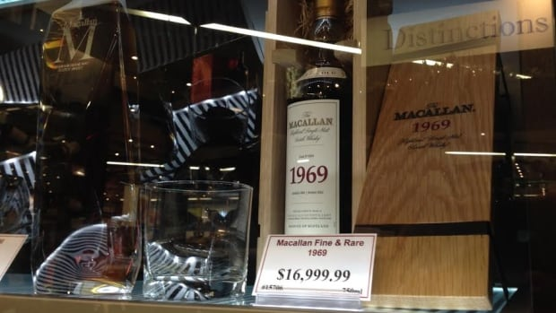 A 1969 bottle of Macallan scotch is going for $17,000 at the liquor mart in Grant Park Shopping Centre.