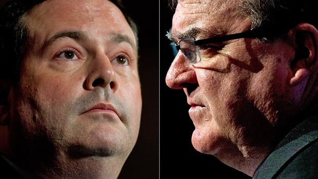 Finance Minister Jim Flaherty, right, is not far beyond Jason Kenney in terms of local fundraising strength, according to CBC News analysis of Elections Canada data.