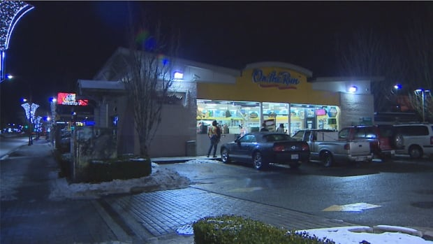 Twenty minutes after a man was stabbed as he was carjacked by a man and a woman in North Surrey, police received a report of a carjacking at an Esso gas station at King George Boulevard and 104th Avenue, apparently involving the same van, and a man and a woman.