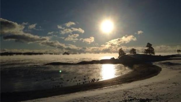 Cold weather creates smoke on the water in Halifax. The storm is expected to continue its track northeast, hitting Halifax, Nova Scotia's north shore, and Fredericton by 9 a.m. on Sunday.