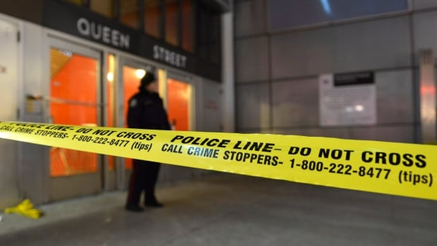 Shots rang out inside Toronto's Queen subway station around 8 p.m. Friday, sending an 18-year-old man to hospital with life-threatening injuries. The station connects to the south end of the busy Eaton Centre shopping mall.