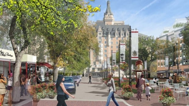An artist's rendering of what 21st Street could look like if the City Centre plan is implemented.