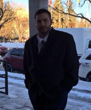 Corey Matthews enters court SASK