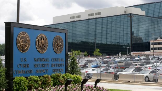 This June 2013 photo shows a sign outside the National Security Agency (NSA) campus in Fort Meade, Md. A federal judge says the NSA's bulk collection of phone records violates the U.S. Constitution's ban on unreasonable searches.