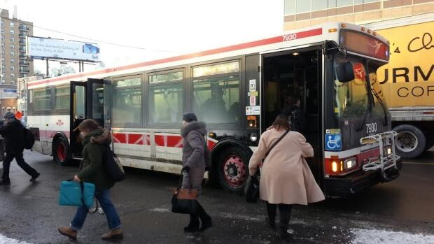 The TTC had to operate shuttle buses from Lawrence station on Monday after a water main break flooded the station's platform. It was one of a handful of problems that made for a difficult commute for TTC riders on Monday.