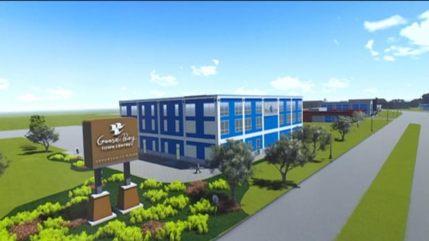 After several years of talk and hype, the first building at the Goose Bay Town Centre is in the works.