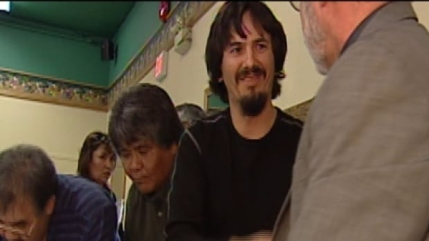 Daniel Morris, shown here in 2003, has been re-elected to lead the Liard First Nation.