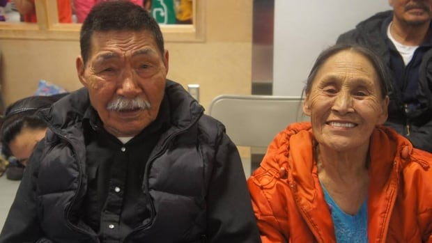 Tommy Tatatuapik of Arctic Bay, pictured here with Bertha Piuju Tatatuapik, says he's amazed that information can spread with the click of a mouse, especially since when he grew up on the land, it would take months or even years to contact others.