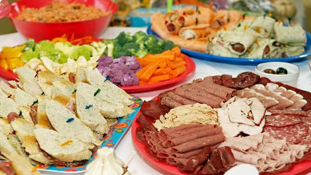 Bacteria can lurk on the buffet table if food is left sitting out too long or not kept at the proper temperature.