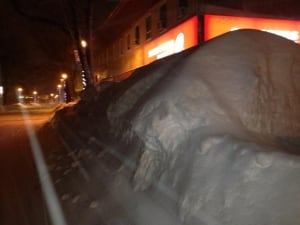 Snowbank on Corner Brook street