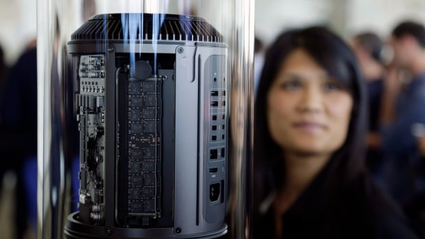 Apple first previewed the new, cylindrical Mac Pro at the Apple Worldwide Developers Conference in San Francisco last June.