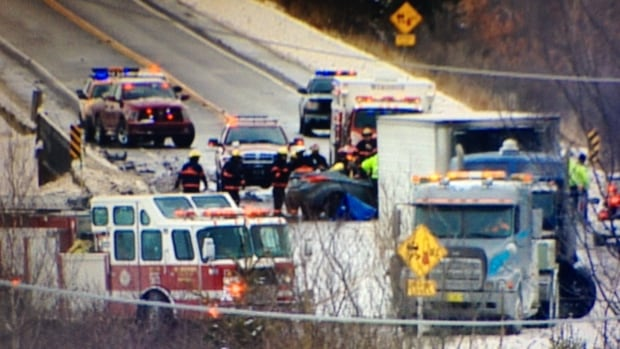 A part of Highway 101 in Nova Scotia was closed on Thursday after a fatal crash.