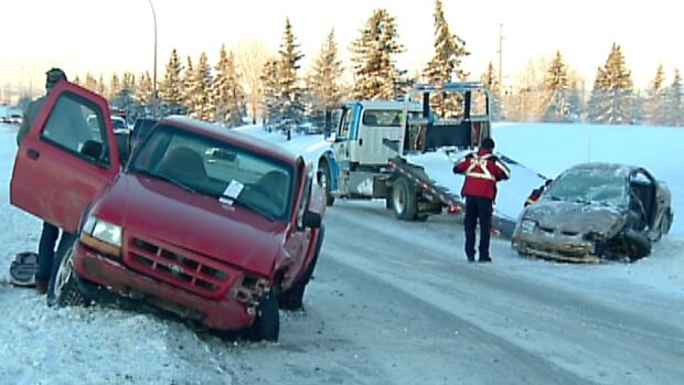 Emergency crews responded to a crash on Peigan Trail just before 8 a.m. MT.