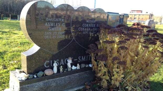 Ashley Smith is buried in Moncton, N.B.