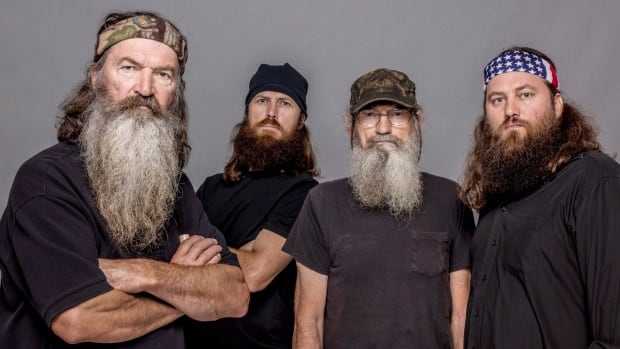 Duck Dynasty's stars include (from left) Phil Robertson, Jase Robertson, Si Robertson and Willie Robertson.