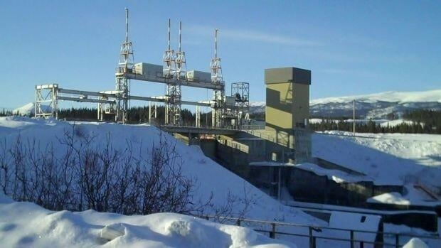 A view of the spillway at Yukon Energy's Whitehorse generating facility.