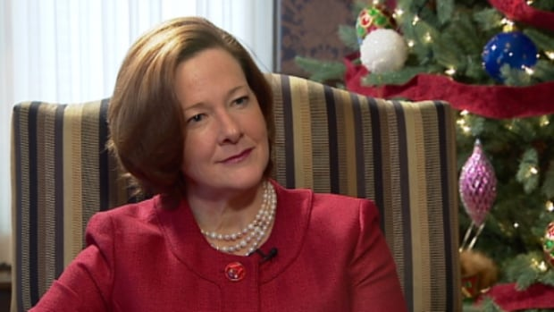 In a year-end interview with CBC News, Alison Reford denied making the decision in choosing a law firm with close personal ties to head the province's suit against tobacco companies, contradicting the findings of Alberta's ethics commissioner. (Emilio Avalos/CBC)