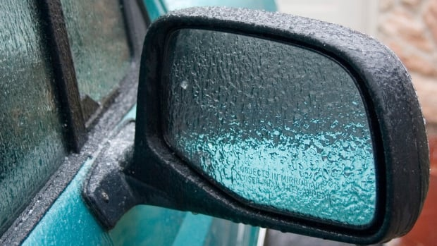 The freezing rain and biting winds could lead to a nasty morning commute on Monday, Environment Canada says.