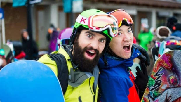 Shane Schroeder, left, has been identified by friends as the man killed by an avalanche near Kicking Horse Mountain Resort in B.C. on Friday.