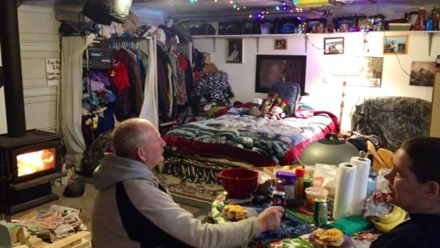 Andy and Jo-ann Vanderploeg are spending Christmas in their garage.