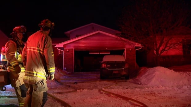 One person escaped the fire with no injuries.