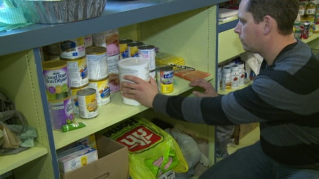 Mike MacDonald, who runs the Upper Room Food Bank, says baby items are often in short supply.