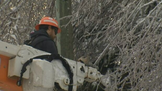 Crews in New Brunswick are working to restore power to thousands of customers. That work could be hindered by a winter storm expected to hit overnight Sunday.