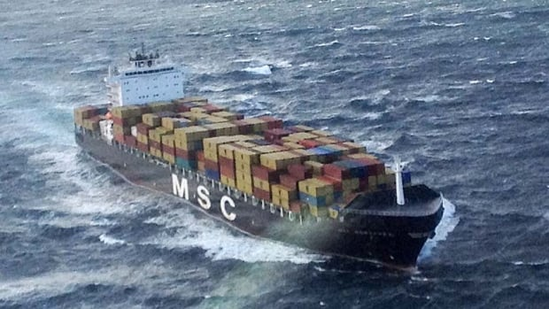 Four passengers have been rescued from a container ship in distress off the coast of Newfoundland. Twenty crew members remain on the ship and are working to resolve the issue.