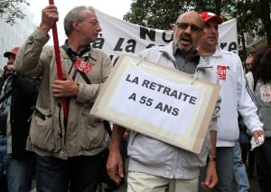 France Retirement Strike