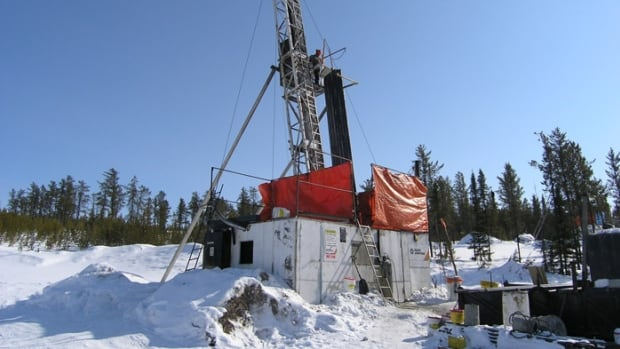 Winter drilling in northern Saskatchewan.