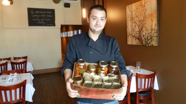 Kyle Lew, owner of Chew restaurant and former Toronto-based chef, hit the kitchen to jam and preserve his own fruits and vegetables before opening his Waterloo Street bistro in Fall 2013.